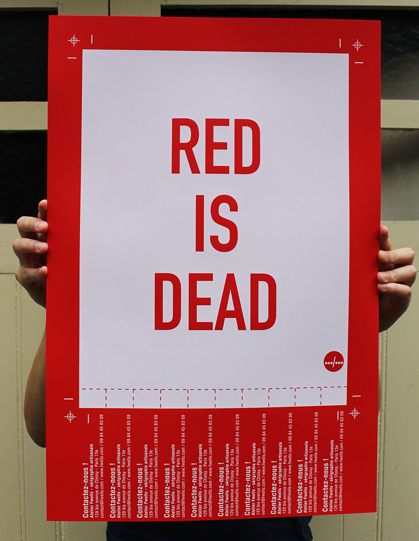RED_IS_DEAD_SERIGRAPHIE_IMPRESSION_BLANC_ATELIER_FWELLS_PARIS