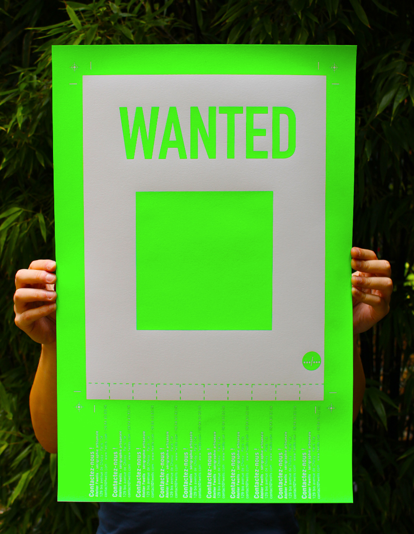 WANTED_FLUO_IMPRESSION_ATELIER_FWELLS_SERIGRAPHIE_PARIS