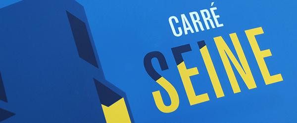 Affiche sérigraphie – Carré Seine