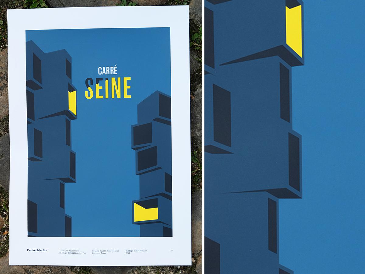 Fwells - Réalisations - Affiche Carré Seine - PietriArchitectes