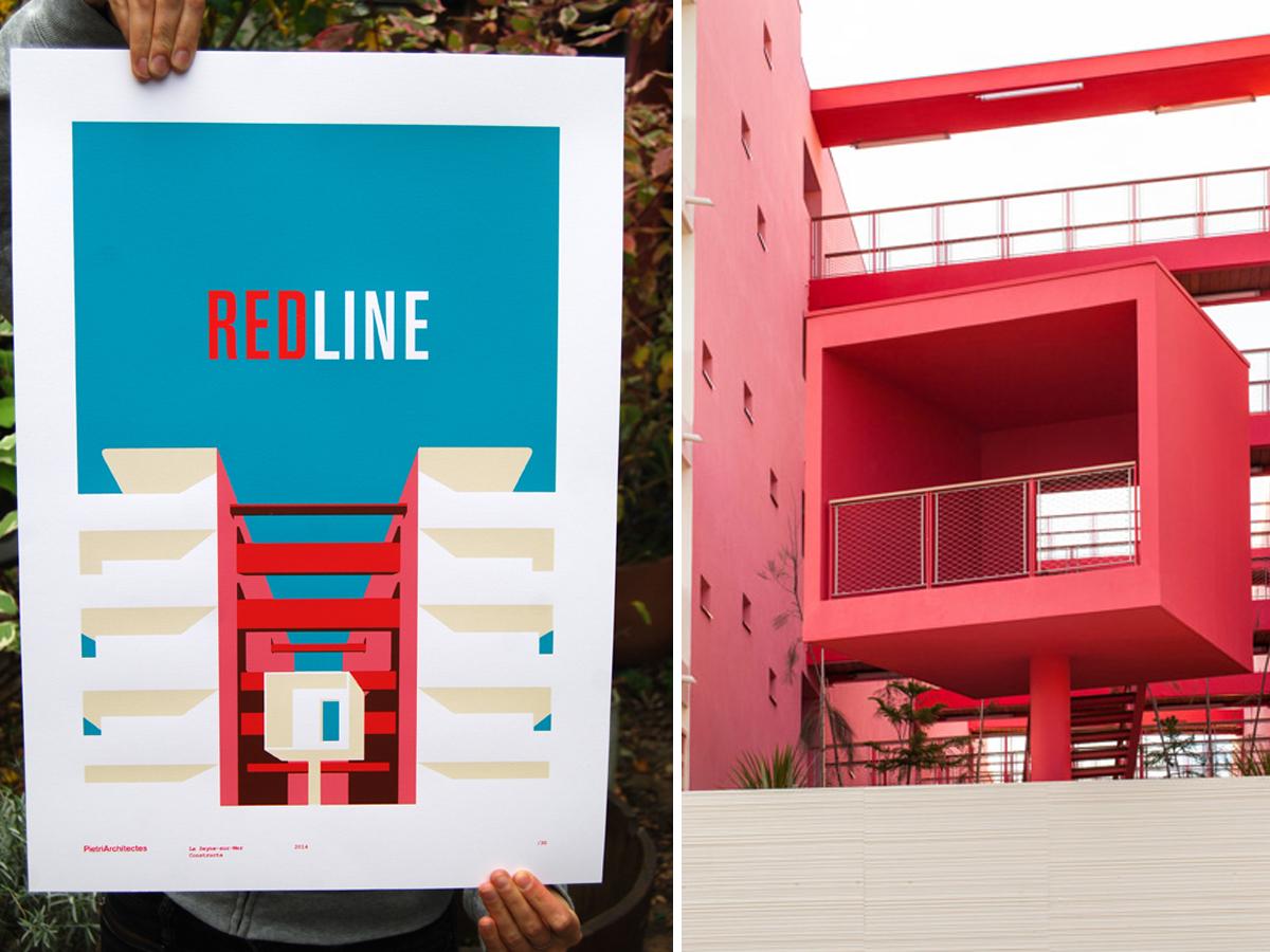 Fwells - Réalisations - Affiche Redline - tirage sérigraphie