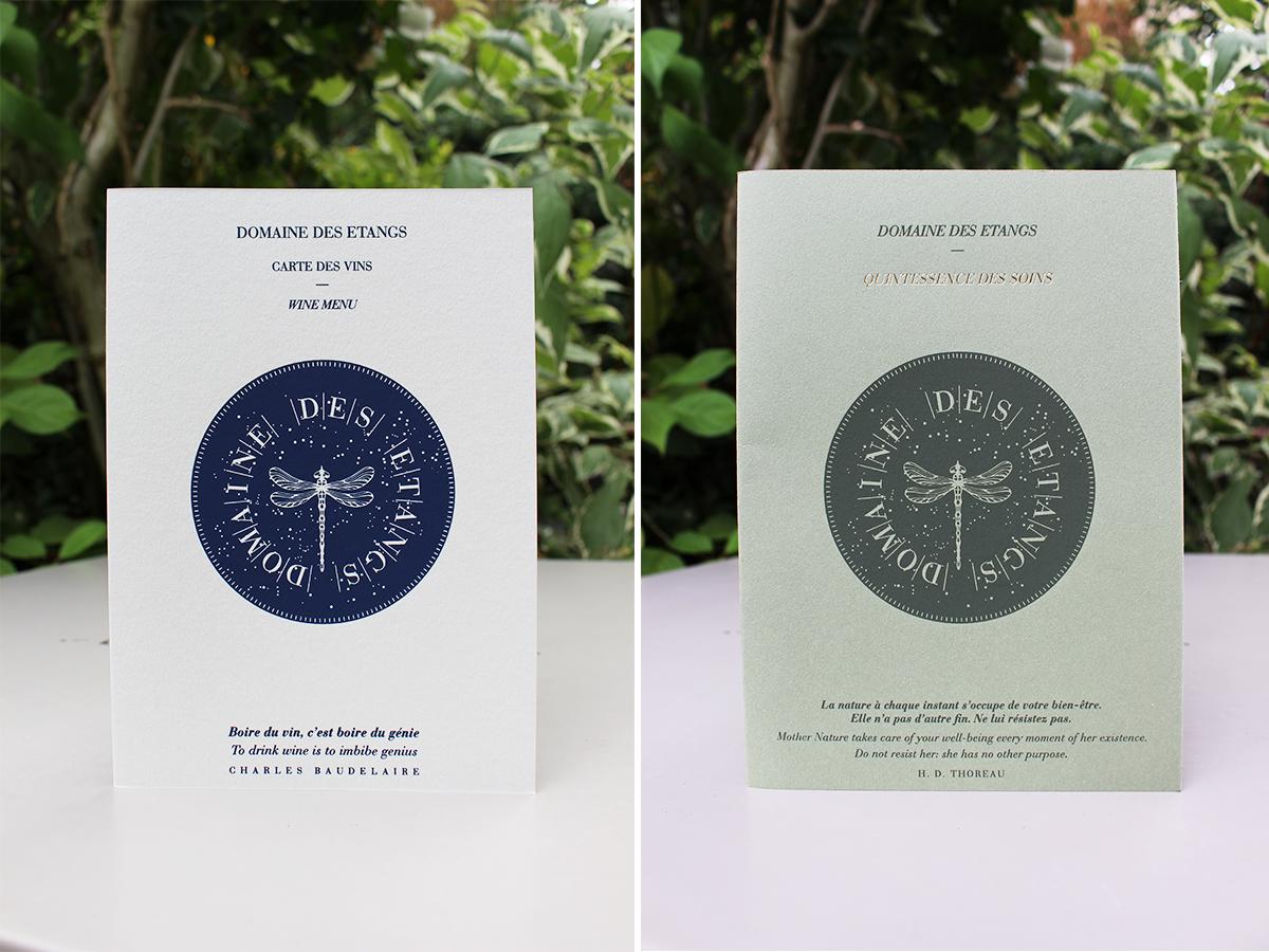 Fwells - Réalisations - Domaine des Étangs - Cartes des vins