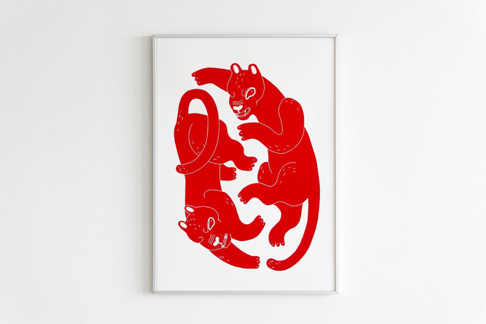 Elsa-Saunier-serigraphie-atelier-fwells-tigre-poster